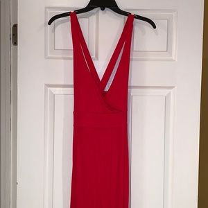 Forever21 red maxi dress